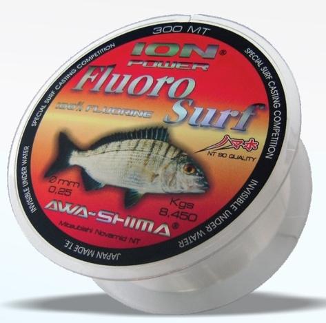AWA-SHIMA - Silon ION Power Fluoro Surf - 0,25mm - 300m