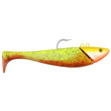 SPRO - Jig + ripper Mega jig shad 275g - 20cm - orange/chartreuse