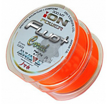 AWA-SHIMA - Silion ION POWER FLUO+ Coral - 0,309mm - 2x300m
