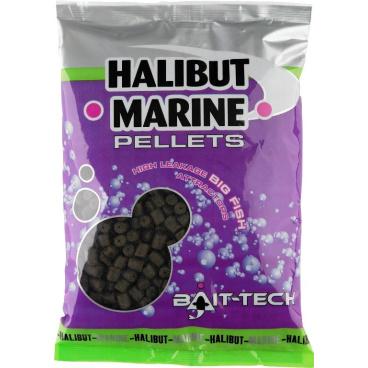 Bait-Tech Pelety bez dírek Halibut Marine 10mm, 900g