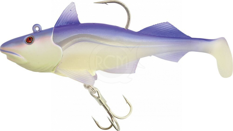 QUANTUM - Nástraha ryba Skrey shad 340g 19,5cm fluo/fialová jig + 2x ryba