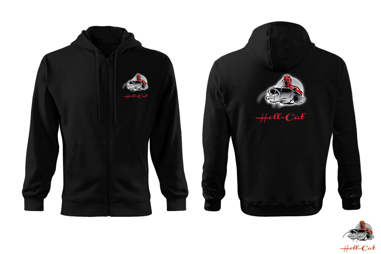 Hell-Cat - Mikina ze zipem černá - M
