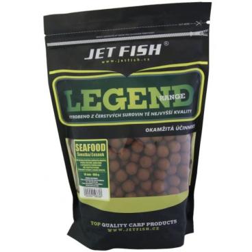 JET FISH - Boilie Seafood + A.C. Švestka/Česnek - 24mm / 3kg - AKCE