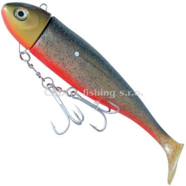 ICE Fish - Gumová nástraha MOBY černo/stříbrno/červená 630g